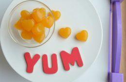 orange and mango gummies kids eat by shanai
