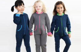 Merino fleece kids onesie