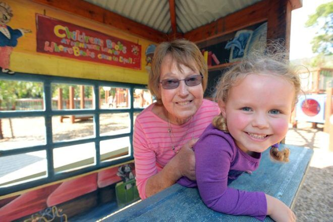 mother and daughter at Montrose Community Playground