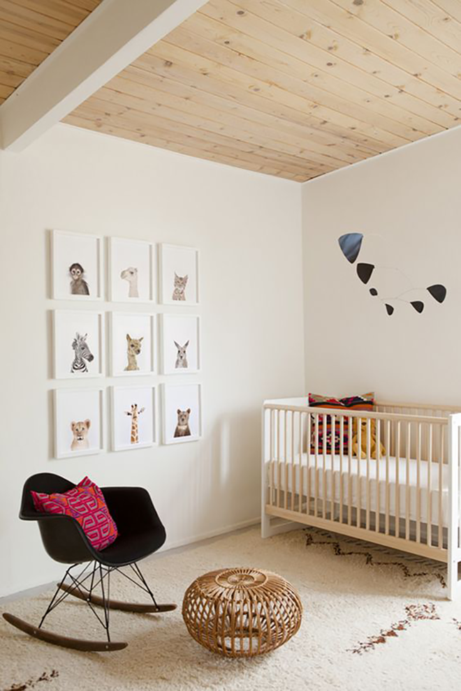 neutral nursery The Animal Print Shop