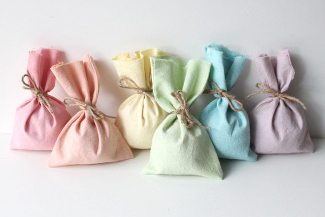 fabric rainbow party bags Etsy