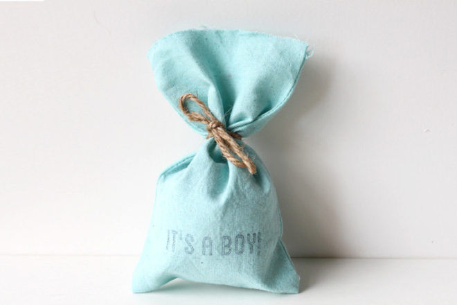 boy baby shower fabric party bags