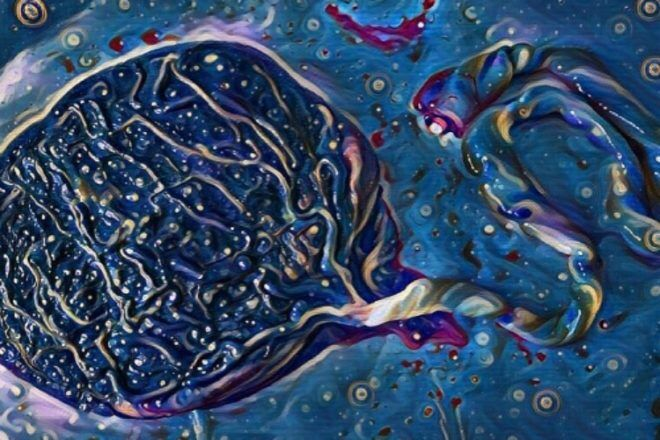 Placenta art with filter