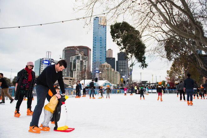 ice skating Melbourne Federation Square