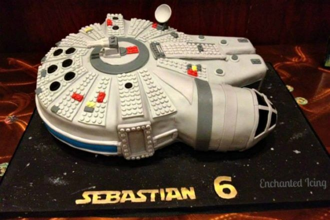 Millenial Falcon cake