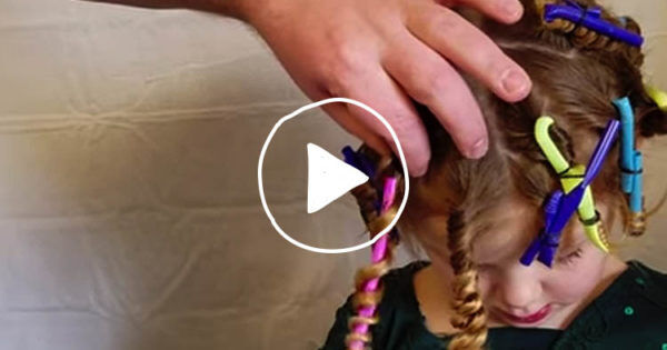 How To Make Straw Curls In Your Kids Hair Mum S Grapevine