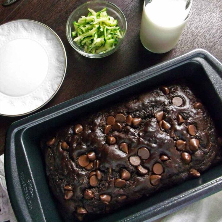 Chocolate zucchini bread by wyldflour