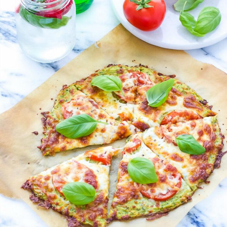Zucchini Pizza Crust by Cooking LSL