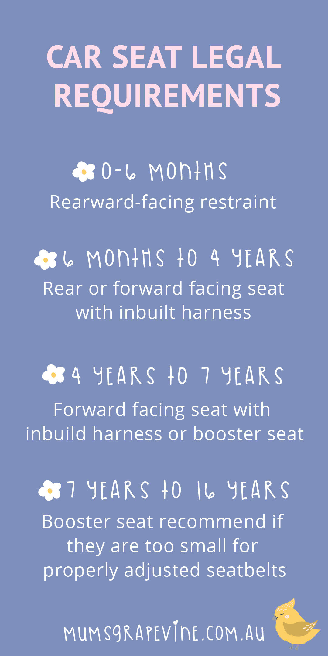 Car Seat Legal Requirements