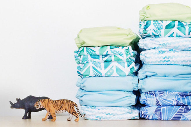 Econaps aqua modern cloth nappies