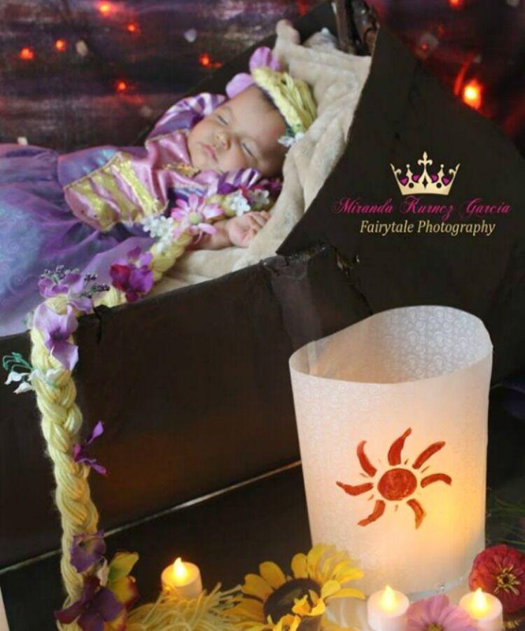 Rapunzel Disney princess baby photo shoot