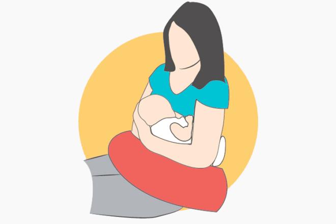 Football Hold breastfeeding position