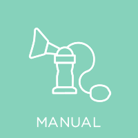 Manual breast pump icon