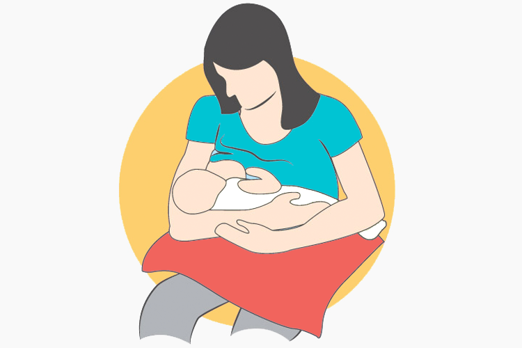 The Cradle Hold Breastfeeding position