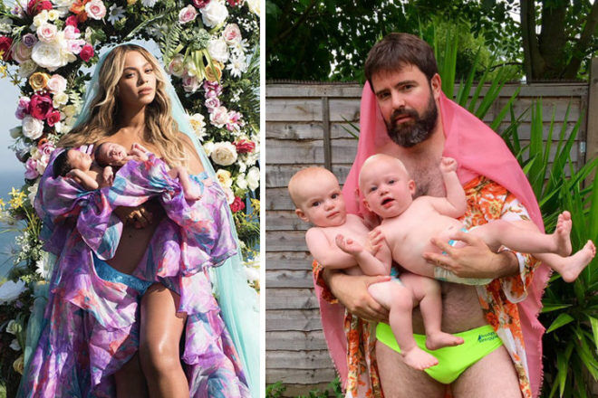 Beyonce twin photo parodies