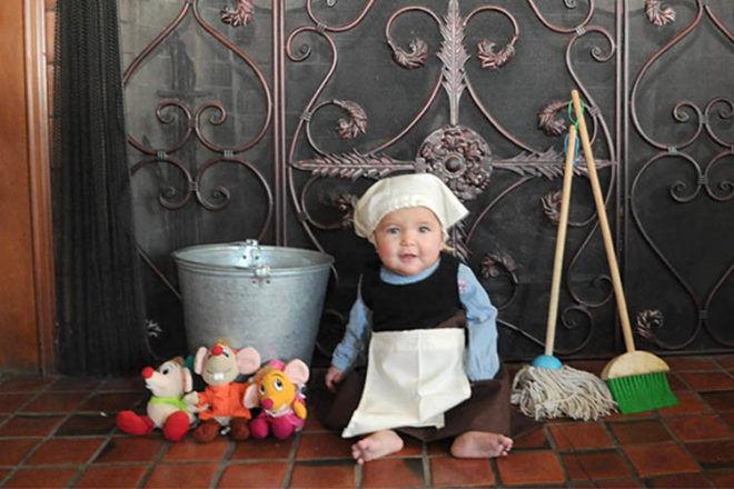 Disney princess baby photo shoot