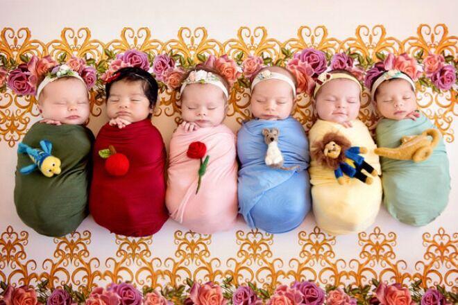 Belly Babies Disney Princess photo shoot