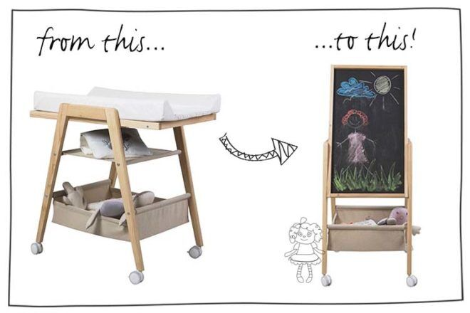 stokke changing table to desk instructions