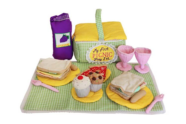 fabric toy picnic playset