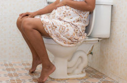 Pregnant on the toilet