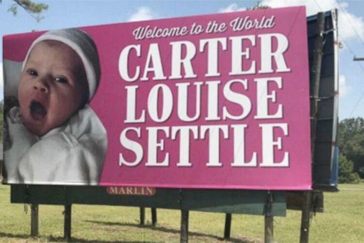 Carter Louise Settle billboard