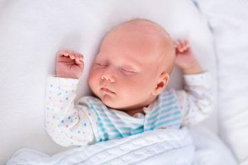 newborn boy asleep