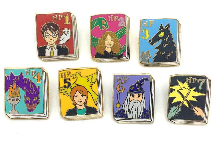 The Ideal Bookshelf book pins harry potter