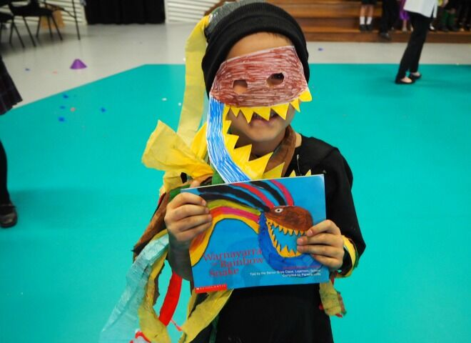 6 book week costumes idea for non-crafty mums - Rainbow Serpent