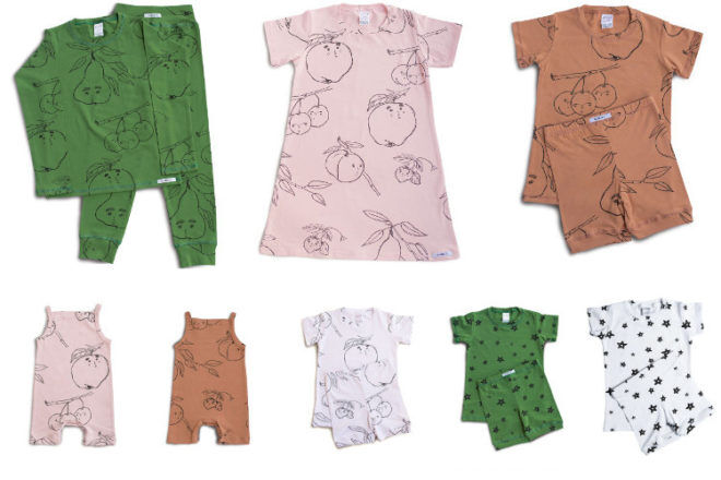 kids sleep wear from G.Nancy fruit salad SS17