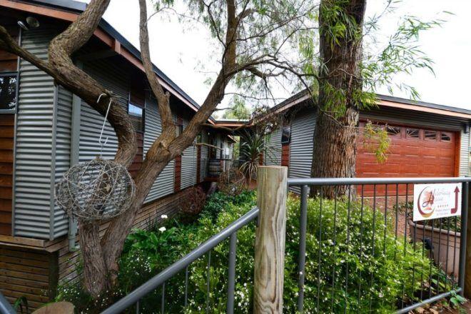 Outside area at Hideaway Heaven, Western Australia