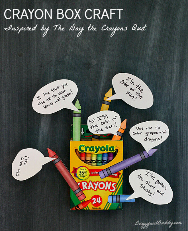 the day the crayons quit craft ideas
