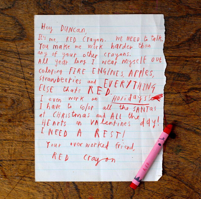 letter - make your own oliver jeffers crayons