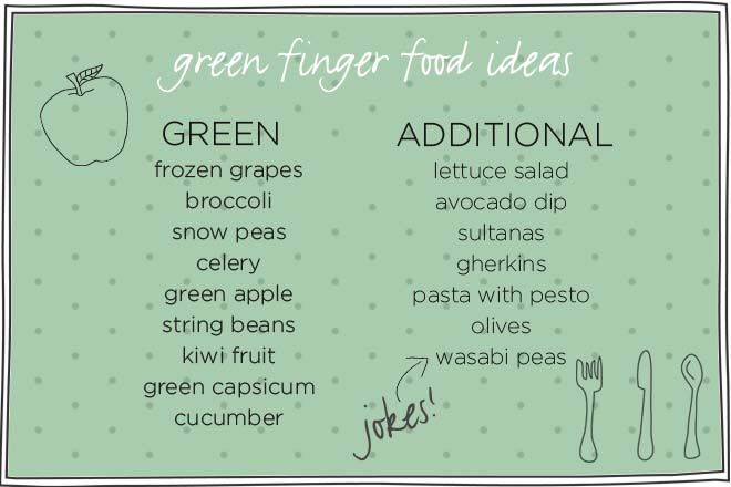 fun toddler food tray ideas - green foods