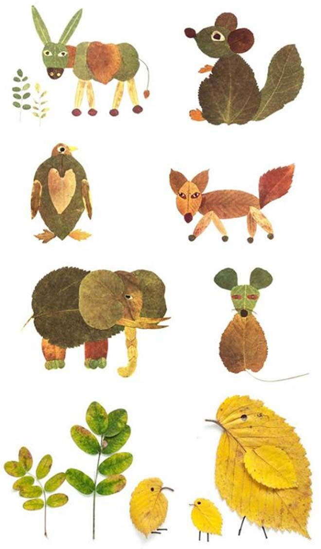 leaf animals craft