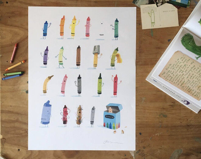 the day the crayons quit poster craft ideas