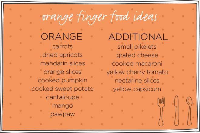 fun toddler food tray ideas - orange foods
