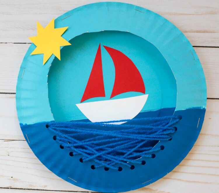 How to make a paper plate boat