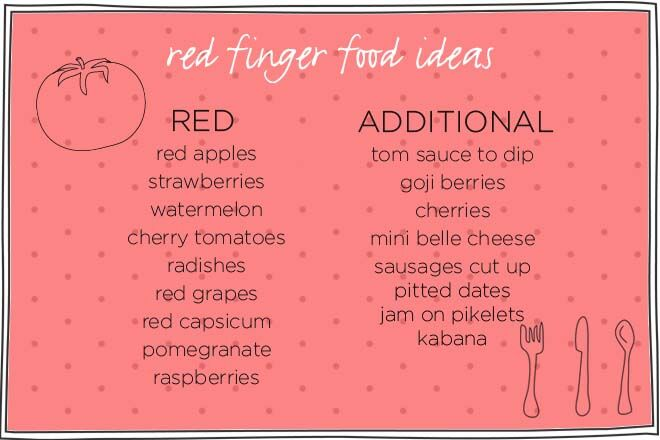 fun toddler food tray ideas - red foods