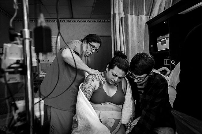 The photo taking every mum back to THAT post-birth moment