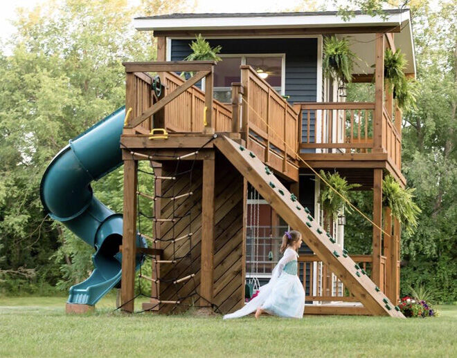 The Doublestorey Cubby House Dad Built - Cubby house