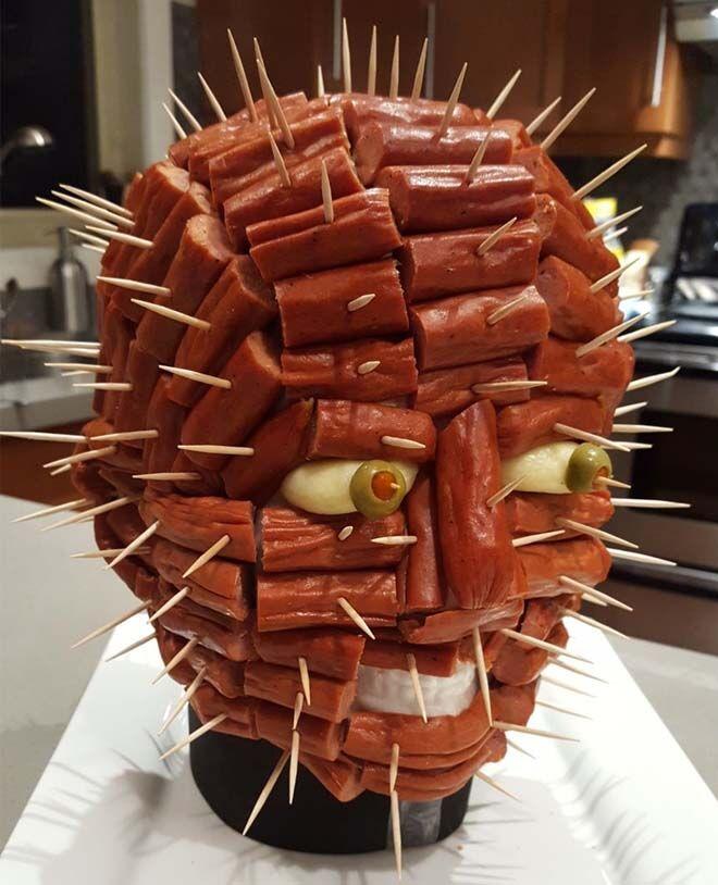 Halloween dinner ideas, Hellraiser Pinhead