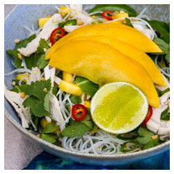 Mango and Chicken Noodle Salad