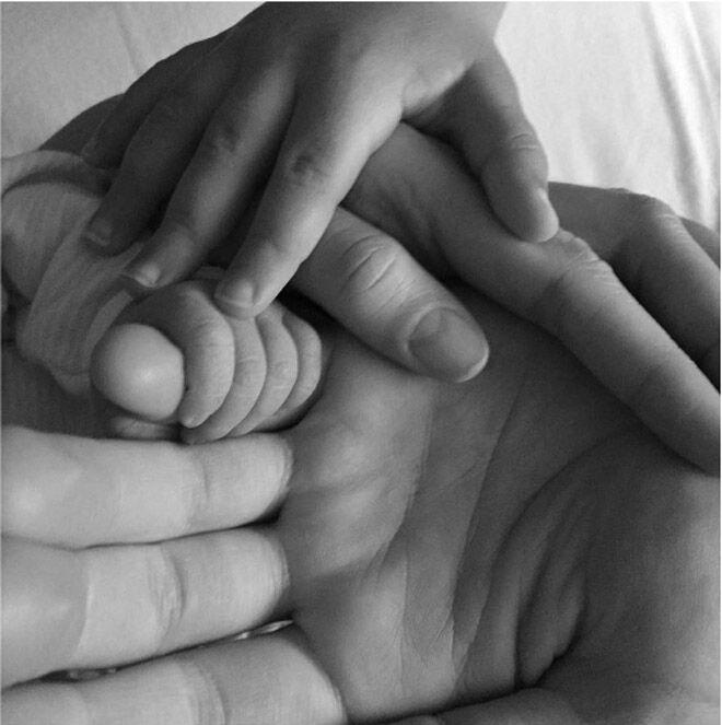 Megan Gale baby announcement