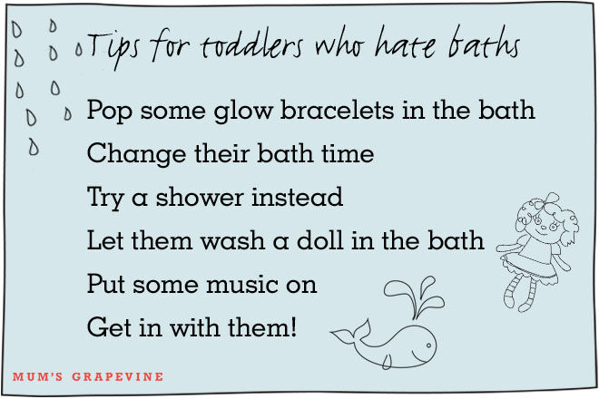Tips for toddlers who hate baths