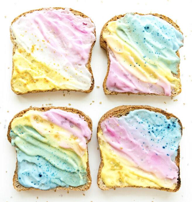 pastal unicorn toast
