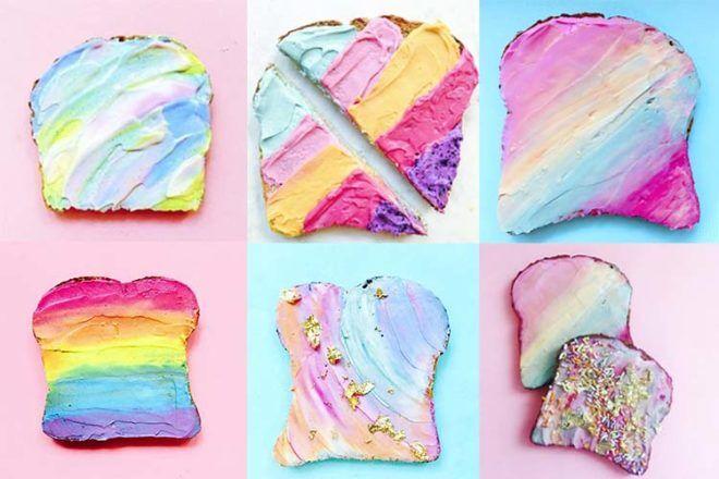 Unicorn food toast