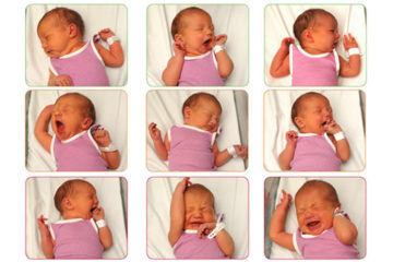 Visual guide to tell when baby is hungry