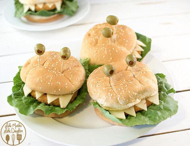 Spooky Halloween dinner ideas, Sandwich Monsters