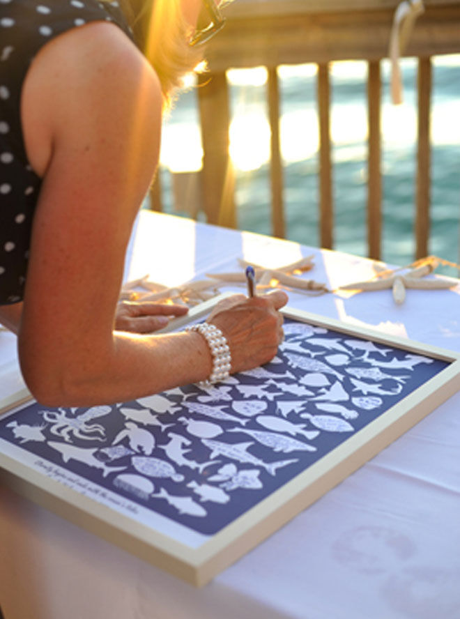 Nautical nursery theme baby shower guest book