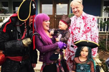 Pink 2017 Halloween family costume